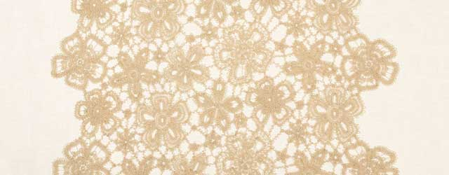 Beige guipure lace fabric