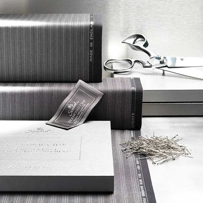 Scabal diamond chip wool fabric collection