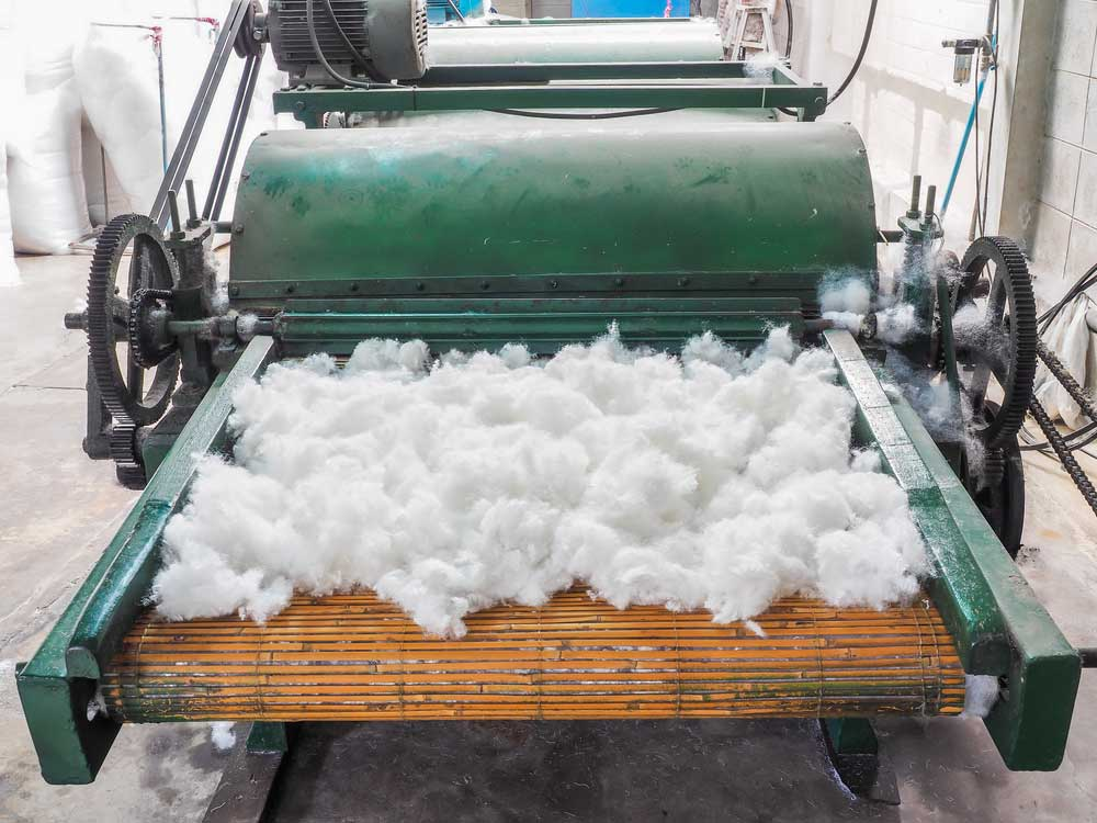 Wool fabric production