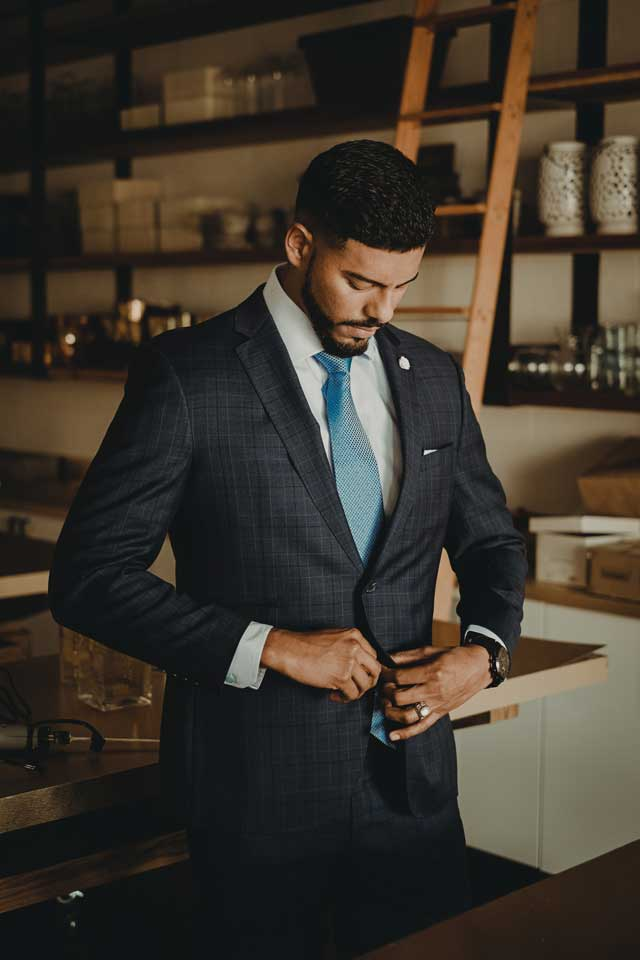 Merino wool suit