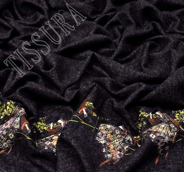 Embroidered Alpaca Tweed #4