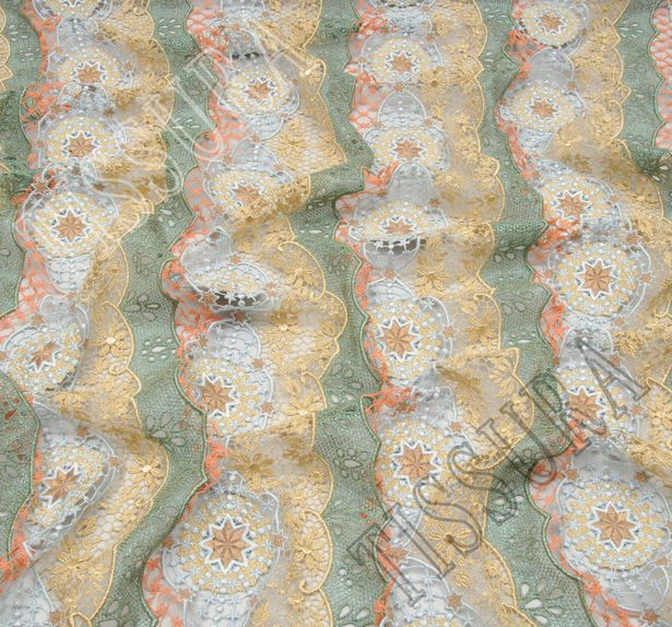 Metallic Guipure Lace #4
