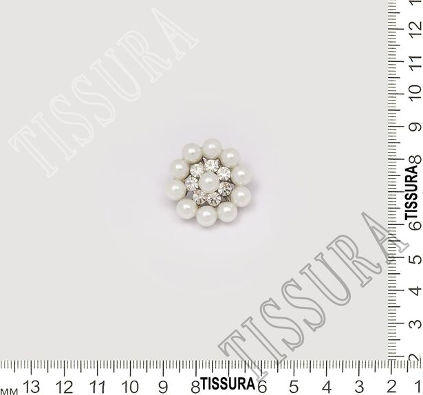 Pearl Rhinestone Buttons #2