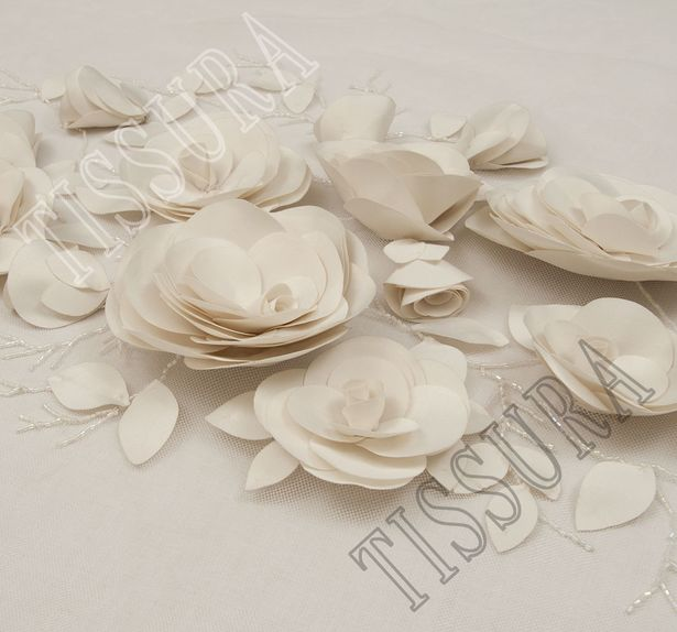 3D Floral Applique Tulle #3