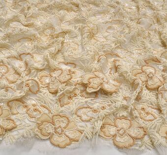 Floral Applique Embroidered Lace #1