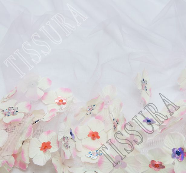 Floral Applique Tulle #4