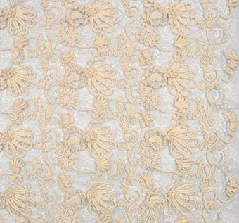 Heavy Corded Chantilly Lace #1