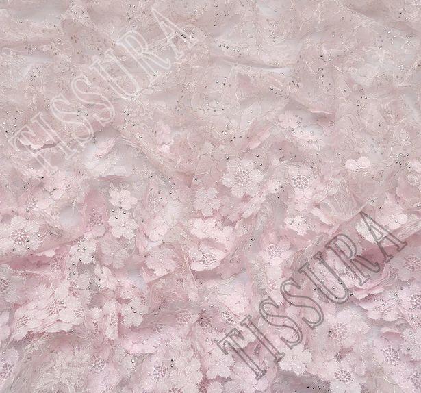 Unique Swarovski Appliqued Chantilly Lace #4