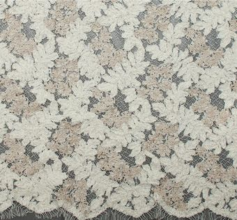 Embroidered Corded Lace #1