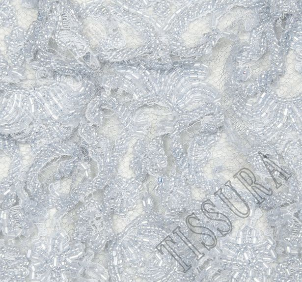 Embroidered Chantilly Lace Trim #4