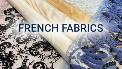 50% OFF ON FRENCH FABRICS