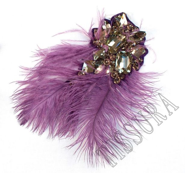 Rhinestone Feather Patch #1