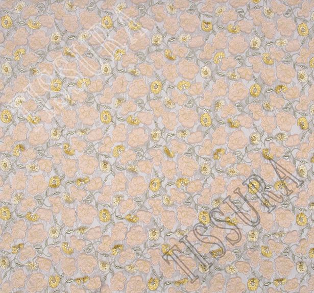 Floral Applique Embroidered Lace #3