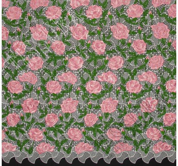 Embroidered Guipure Lace #3