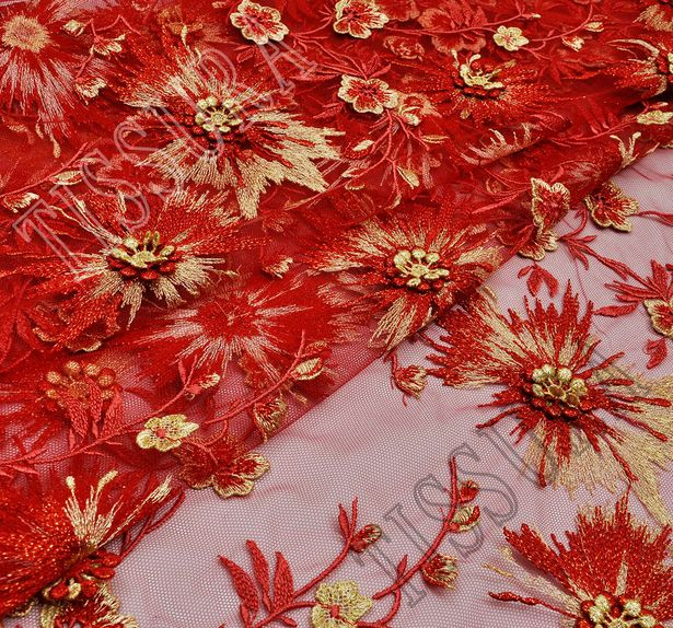 Applique Embroidered Tulle  #1