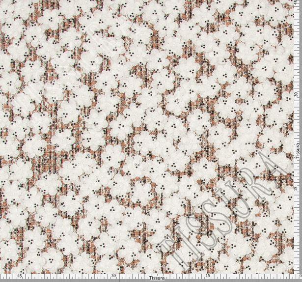 Floral Appliqued Tweed Boucle #2