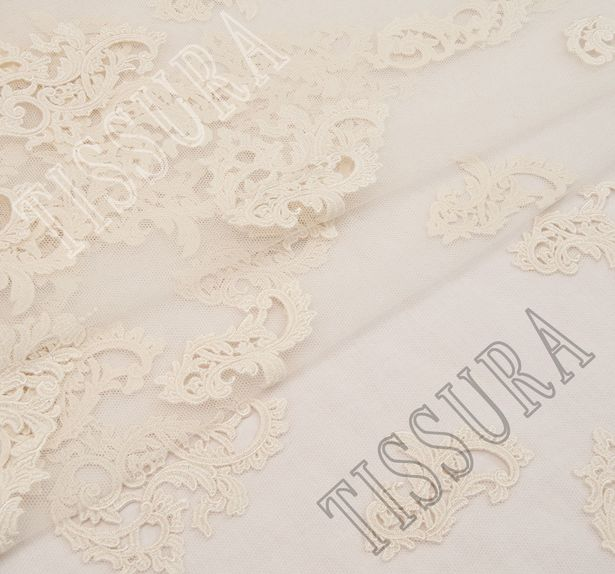 Embroidered Cutwork Tulle #1
