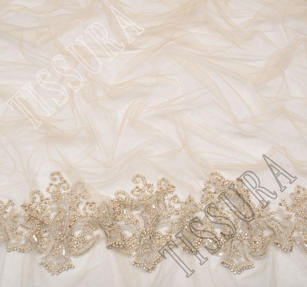 Sequin, Bead & Rhinestone Embroidered Tulle #4
