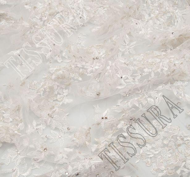 Embroidered Rhinestone Tulle  #4
