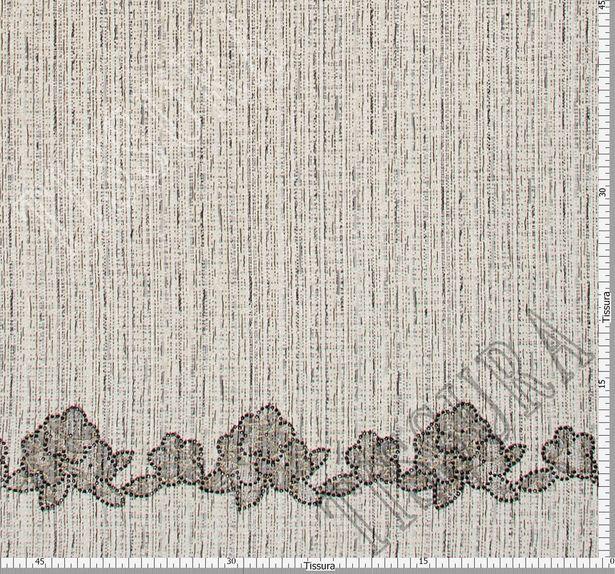 Lace Appliqued Tweed Boucle #2