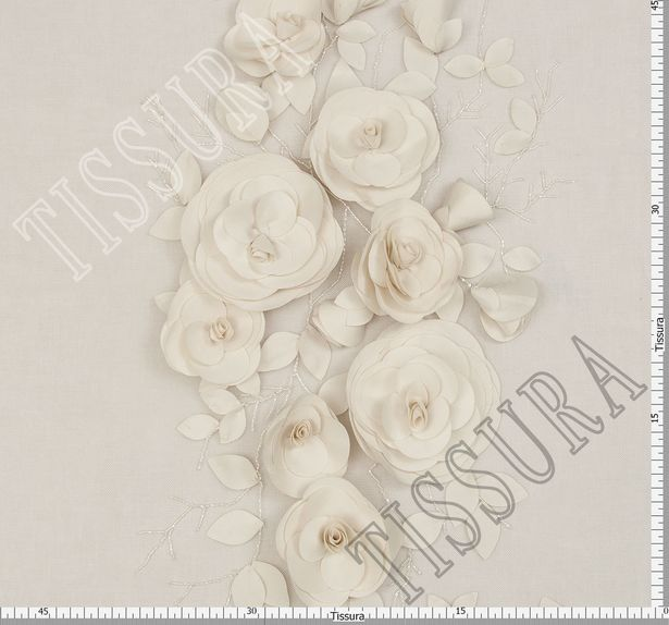 3D Floral Applique Tulle #2