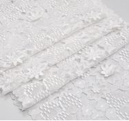 Floral Applique Cutwork Organza