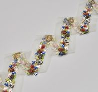 Embroidered Tulle Trim #3