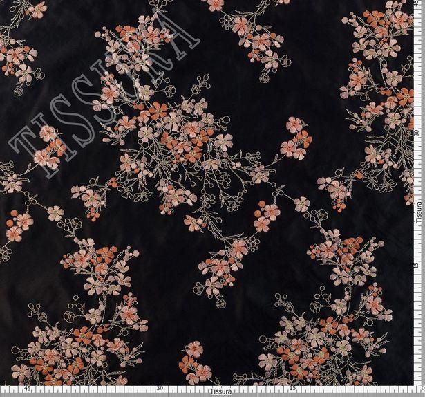 Designer Embroidered Silk Duchesse #2