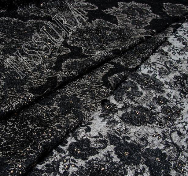 Swarovski Appliqued Chantilly Lace #1