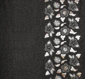 Sequined Appliqued Wool #1