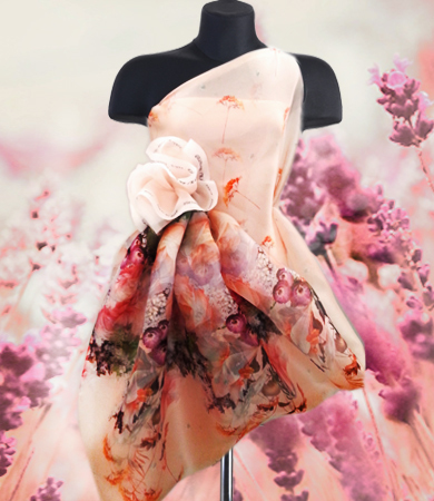 Silk chiffon dress