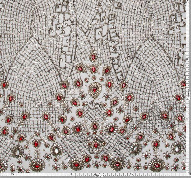 Rhinestone Embroidered Tulle #2