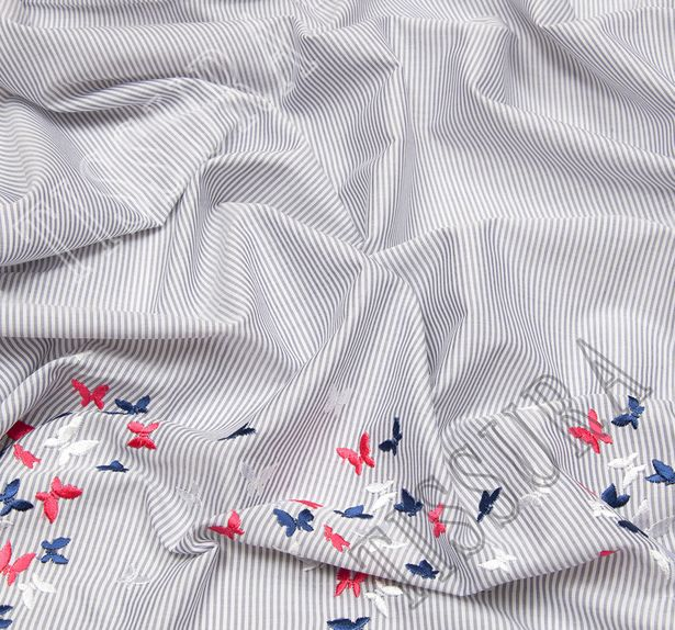 Embroidered Cotton Poplin #3