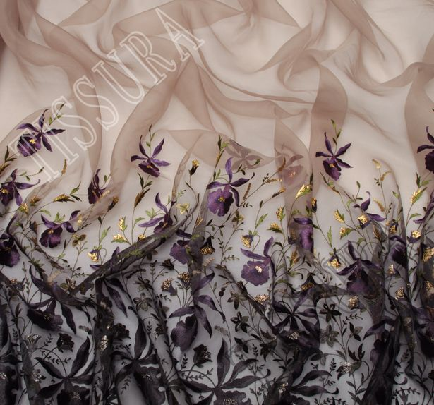 Embroidered Ombre Organza #4