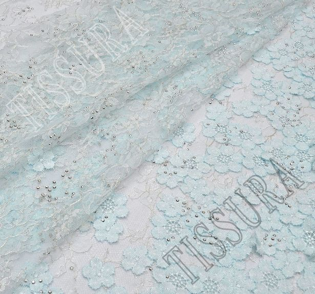 Unique Swarovski Appliqued Chantilly Lace #1