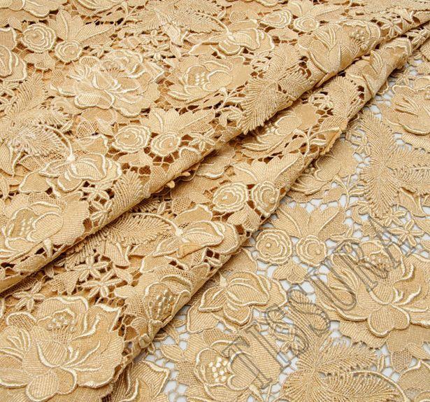 Golden Guipure Lace #3