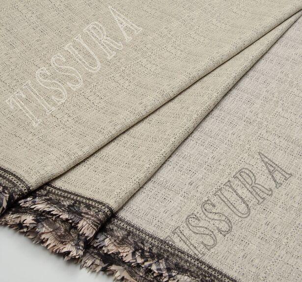 Tweed Fabric with Lace & Taffeta Border #1