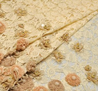 Chiffon Flower Embroidered Lace #1