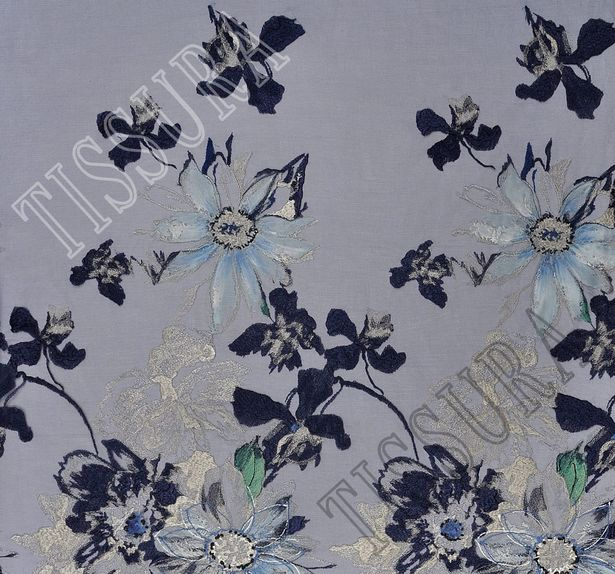 Embroidered Printed Tulle #3
