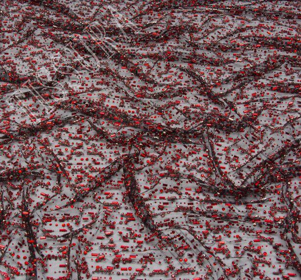 Rhinestone Embroidered Tulle #4
