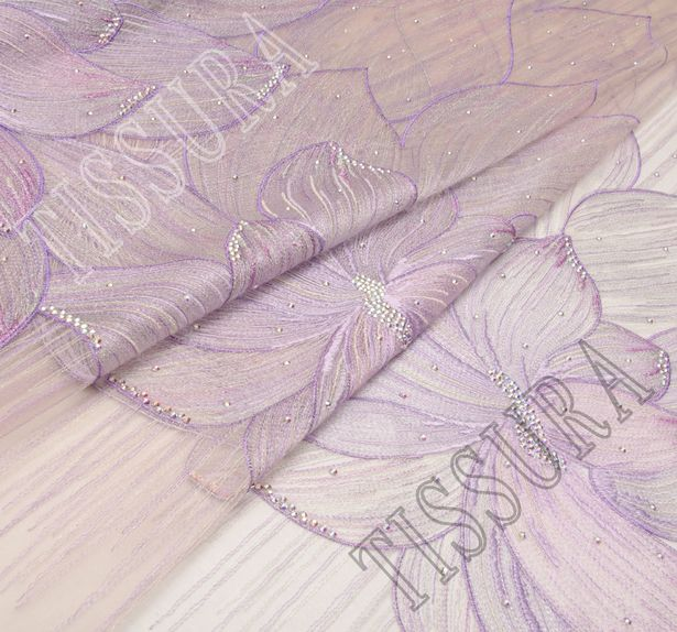 Embroidered Tulle with Swarovski Crystals #1