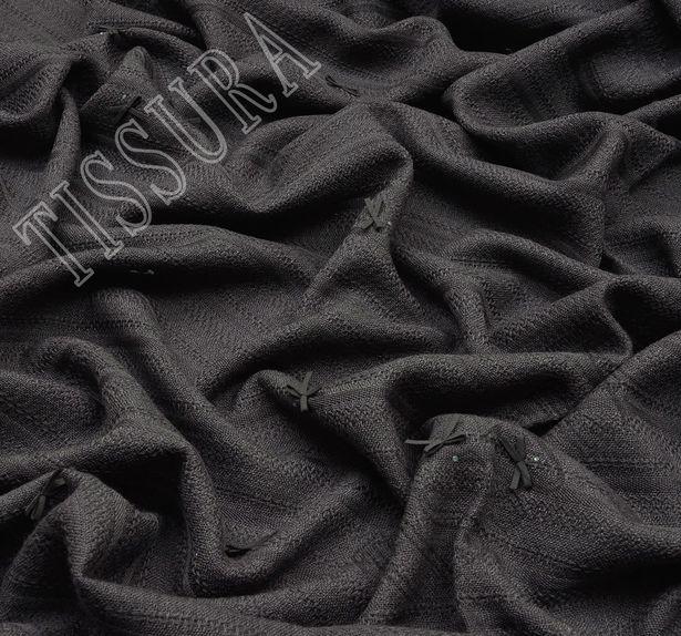 Bow Applique Wool Jacquard #3