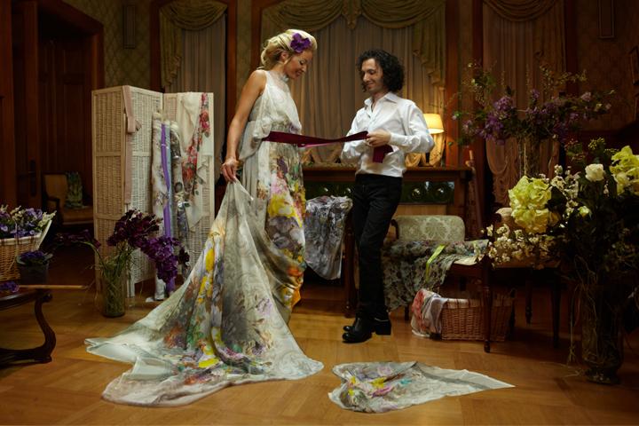 Silk dress fabrics