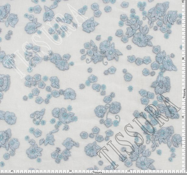 Flower Applique Sequined & Beaded Tulle #2