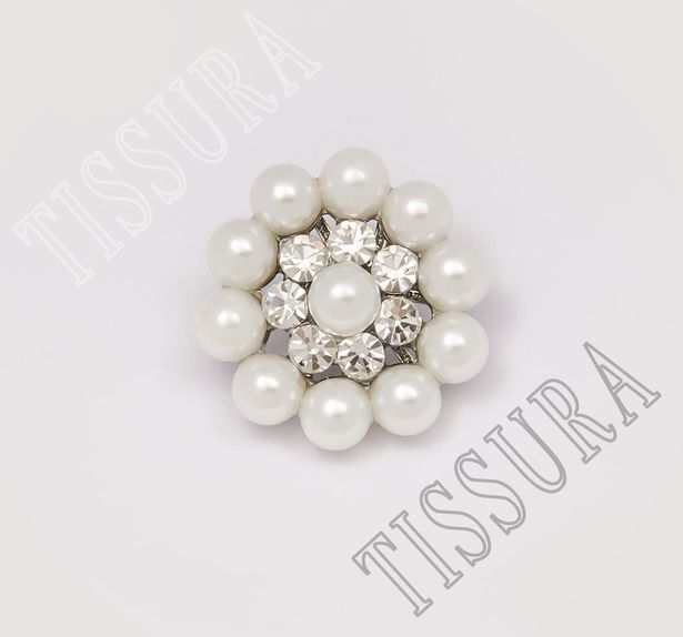 Pearl Rhinestone Buttons #1