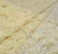 Feather Sequin & Bead Embroidered Tulle #3