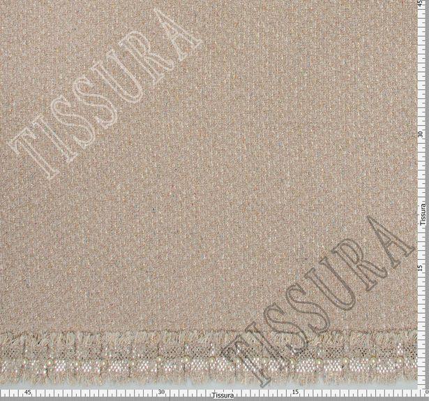 Bead & Foil Appliqued Tweed Boucle  #3
