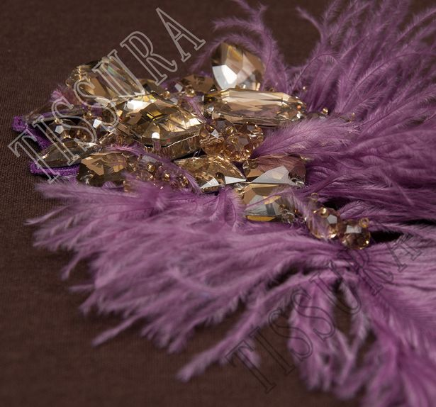 Rhinestone Feather Patch #2