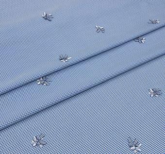Bow Appliqued Cotton Jacquard #1