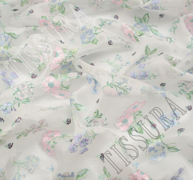 Embroidered Cotton Organdy #4